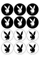 "Вафельна картинка ""Playboy"""