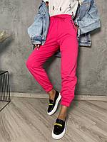 Спортивные штаны джоггеры женские яркие на высокой посадке (р. 42-48) 52mbl622