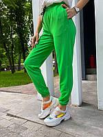 Яркие спортивные штаны джоггеры женские на высокой посадке (р. S, M, L) 65mbl623