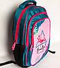Шкільний рюкзак для дівчинки розмір М, зелено-рожевий, Фламінго, фото 3