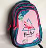Шкільний рюкзак для дівчинки розмір М, зелено-рожевий, Фламінго, фото 2
