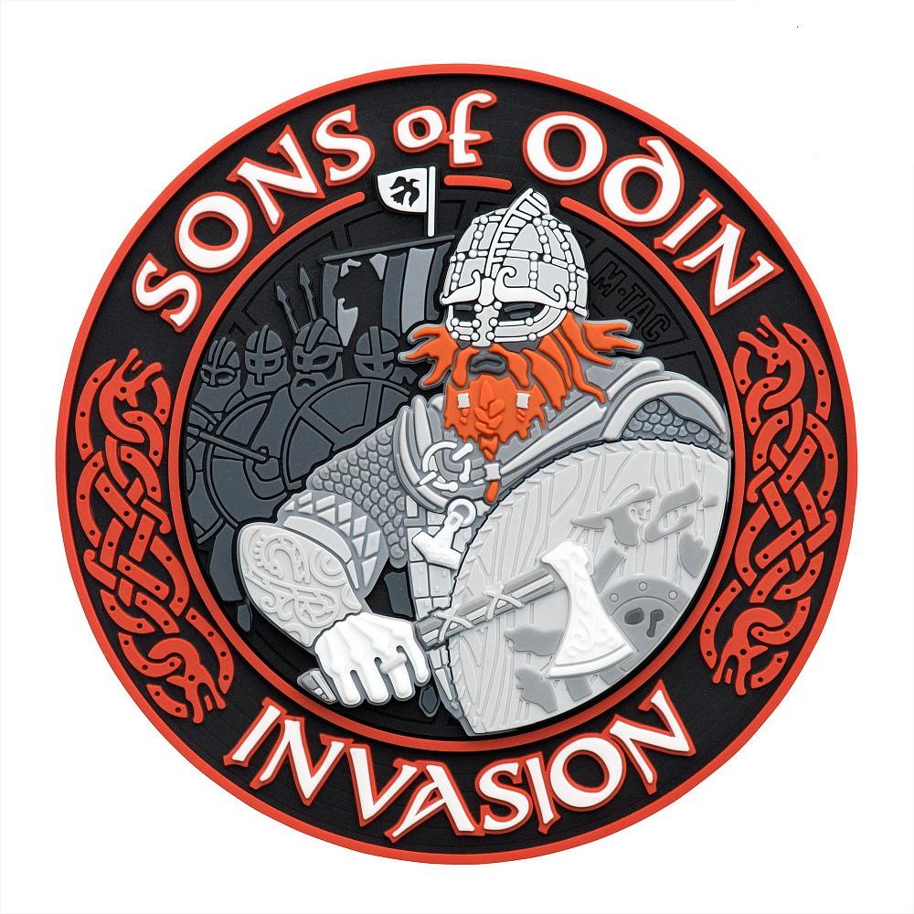 M-Tac нашивка Sons of Odin 3D PVC Black/Red