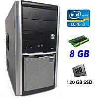 Компьютер Midi Silver Tower/ Intel Core i3-3240 (2(4) ядра по 3.4 GHz)/ 8 GB DDR3/ 120 GB SSD NEW