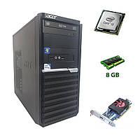 Компьютер AcerTower /Intel Core i3-2130 2 ядра по 3.4GHz / 8GB DDR3 / 500GB HDD /Radeon HD8490 1GB GDDR3