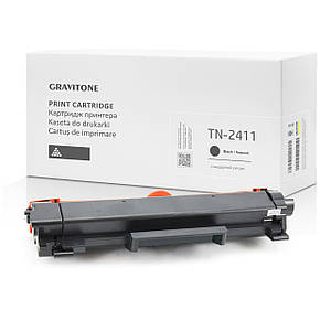 Совместимый картридж Brother TN-2411 (TN2411), чёрный, 1.200 копий, аналог от Gravitone (GTB-CRG-TN-2411-BK)