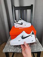 Женские кроссовки белые Nike Air Force 1 07 LV8 Ultra White. Женская обувь Найк Аир Форс 1 07 ЛВ8 Ультра Вайт