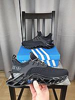 Кроссовки черные Adidas летние мужские. Кроссы на лето Адидас в черном цвете. Обувь летняя мужская черная