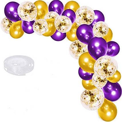 Гірлянда арка з повітряних кульок 55 шт + пластикова стрічка для куль