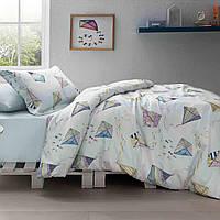 Подростковое постельное белье Tivolyo Home Kite делюкссатин полуторный