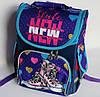 Каркасный рюкзак-короб с ортопедической спинкой для девочки, кеды, фото 2