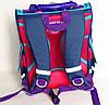 Каркасный рюкзак-короб с ортопедической спинкой для девочки, кеды, фото 5