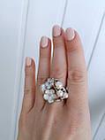 Серебряное кольцо Мерси - эмаль и жемчуг 19 размер, фото 2