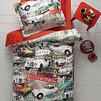 Подростковое постельное белье Tivolyo Home Garage делюкссатин полуторный