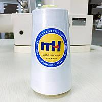 Швейна нитка 100% PE 60/2 кол білий (боб 5000ярдов/12боб/120боб) МН