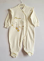 Комбінезон для новонароджених малюків Bestido 5380 екрю 56-68