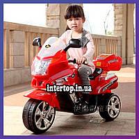 Дитячий триколісний електро мотоцикл на акумуляторі Honda M 0566 для дітей 2-6 років червоний