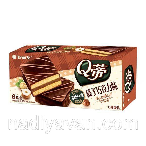 Бисквит шоколадный  с лесными орехами  Orion Q 168g