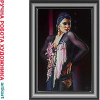 Заказать женский Портрет маслом по фото Картина портрет женщины на холсте заказ Картины живопись художников