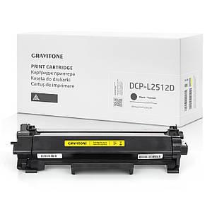 Картридж совместимый Brother DCP-L2512D, c тонером, 3.000 копий, аналог от Gravitone (GTB-DCP-L2512-TN-BK-XL)
