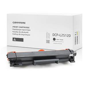 Картридж совместимый Brother DCP-L2512D, c тонером, 1.200 копий, аналог от Gravitone (GTB-DCP-L2512-TN-BK)
