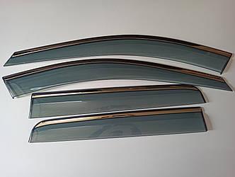 Дефлектори бокових вікон з хром молдингом Toyota Camry V70