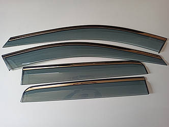 Дефлекторы окон с хром молдингом VOLVO XC 90 (2006-2014)