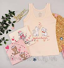 Майки детские для девочек ТМ Baykar, Турция оптом р.1 (98-104 см)