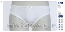 Трусики белые детские для девочек с кружевом ТМ Baykar, Турция оптом р.2 (110-116см)