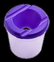 Стакан-непроливайка, фіолетова