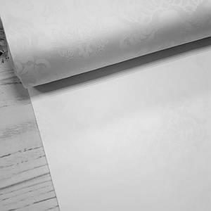 Ткань сатин с рисунком, королевская лилия молочного цвета (ТУРЦИЯ шир. 2,4 м) Отрез(1,35*2,4м)