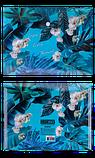 Папка-конверт на кнопці B5, EXOTIC, ARABESKI, блакитна, фото 3