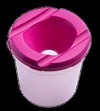 Стакан-непроливайка, рожева