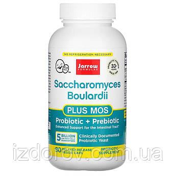 Jarrow Formulas, Сахаромицеты Буларди + МОС (маннанолигосахариды), 5 млрд, 90 капсул