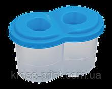 Стакан-непроливайка з двома відділеннями, синя