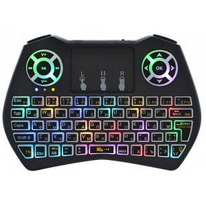 Бездротова російська клавіатура Rii i9 2.4 G з RGB підсвіткою