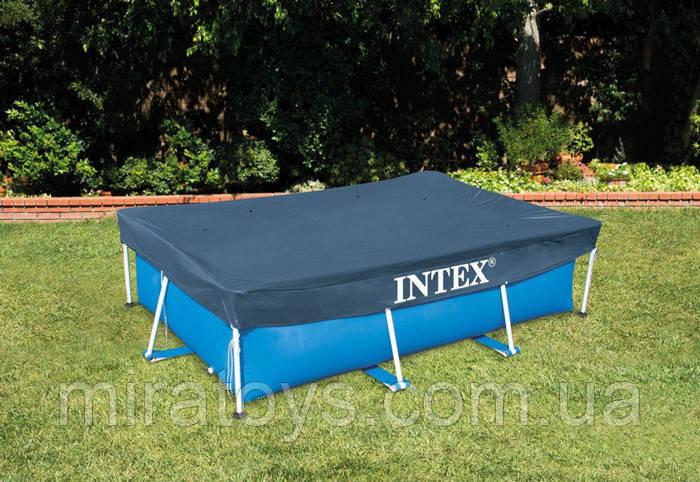 ✅Тент Intex 28039 для прямокутного каркасного басейну, 450x220 см