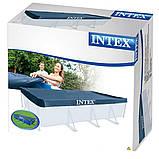 ✅Тент Intex 28039 для прямокутного каркасного басейну, 450x220 см, фото 4