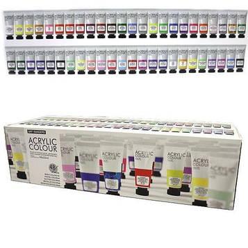 Акриловые краски художественные 48 цветов по 22мл в тюбиках