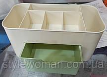 Подставка, органайзер, контейнер для кистей, пилочек  Н01 Органайзер пластиковый для косметики