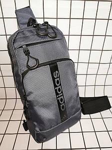 Барсетка Adidas слинг на грудь сумка спортивные Оксфорд ткань1000D качества для через плечо ОПТ