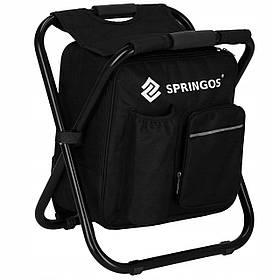 Стул складной с рюкзаком туристический для кемпинга, рыбалки и отдыха на природе Springos CS0012