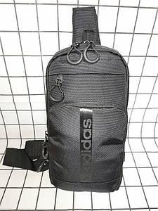 Барсетка ADIDAS линг на грудь сумка спортивные Оксфорд ткань1000D качества для через плечо ОПТ