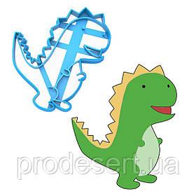 Вырубка для пряников Динозаврик 8 10,3*8,8 см (3D)