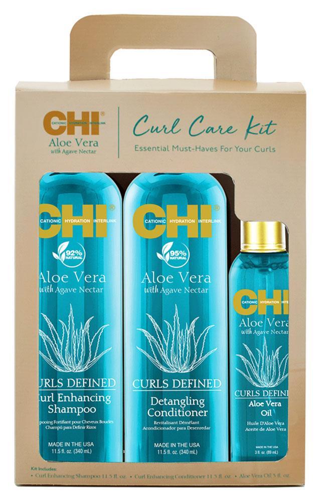 Набір для догляду за волоссям з алое CHI Aloe Vera Curl Care Kit Set