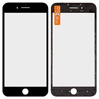 Скло дисплея (деталь для переклеювання) + Рамка + Oca iPhone 7 Plus Black