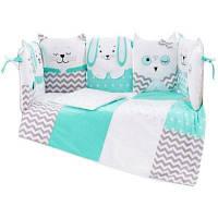 Детский постельный набор Верес Smiling animals mint 6ед. (216.03)