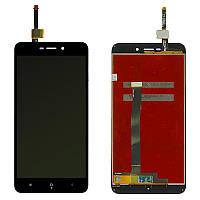 Екран і сенсор для Xiaomi Redmi 4a (дисплей модуль) чорний (OEM)