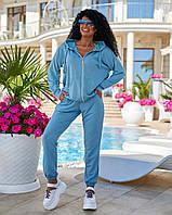 """Спортивний костюм жіночий, з капюшоном на блискавці р-ри 42-56 (7цв) """"DORA"""" недорого від прямого постачальника"""