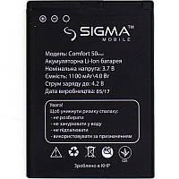 Батарея на телефон Sigma 50 Tinol, Ligth (аккумулятор высокого качества)