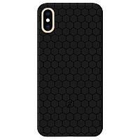 Чехол для Apple iPhone XS Max черный матовый soft touch Cell